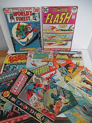 Lot of 9 DC Superhero Comics from Early 1970s with 20 cent Covers; JLA Flash etc