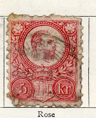 Hungary 1871 Early Issue Fine Used 5kr. 098773