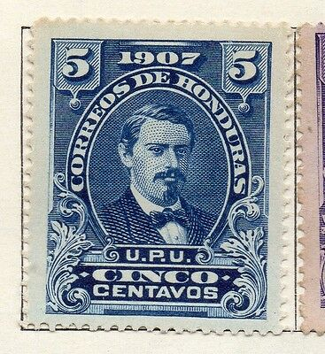Honduras 1907 Early Issue Fine Mint Hinged 5c. 098815