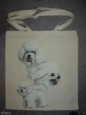 Bichon Frise Dogs Printed On A Tote ECO Shopping Bag