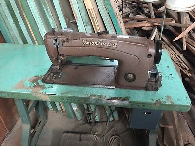 Vintage Industrial Sewing Machine Union Special Heavy Duty Leather  13830