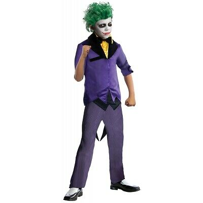 Joker Costume Kids Villain Halloween Fancy Dress