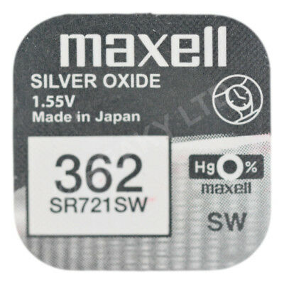 GENUINE Maxell 362 SR721SW Silver Oxide Watch Battery 1.55v [1-pack]