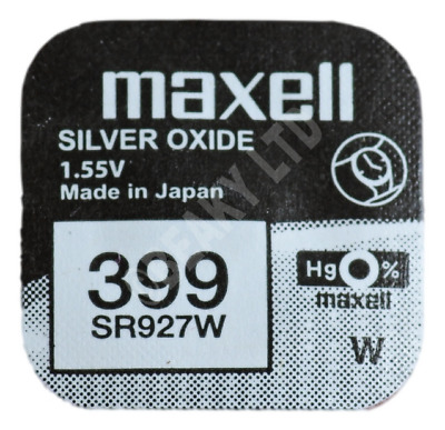 GENUINE Maxell 399 SR927W Silver Oxide Watch Battery 1.55v [1-pack]