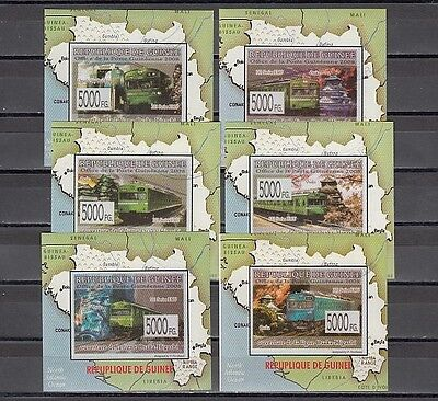 * Guinea, MiCHEL 2008 ISSUE. Electric Trains issue as 6 s/sheets. Canceled