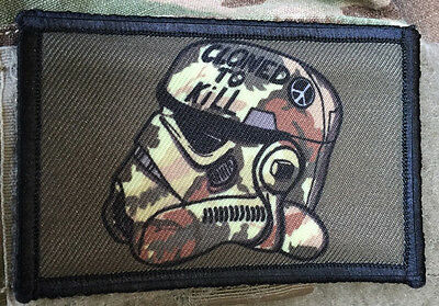 Star Wars Cloned to Kill Stormtrooper Morale Tactical ARMY Hook Military USA