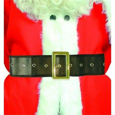 1.8 - 1.10m Long Fit Santa Belt - Pirate Fancy Dress Costume 1.8m Black Buckle