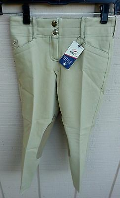 NWT ARIAT BRITTANY $74 Kids 6 8 Front Zip Breeches Riding Pants Beige or Khaki