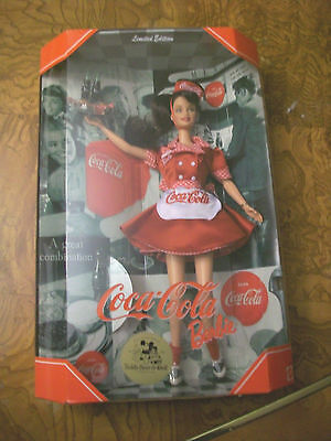 RARE HTF Coca Cola Brunette Convention Barbie MIB