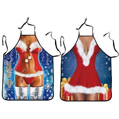 9 Color Christmas Sexy Lady Apron Party Family Kitchen Cooking Baking Chef Apron