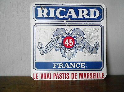Vintage french PROVENCAL Alu advert PLAQUE SIGN   RICARD FRANCE