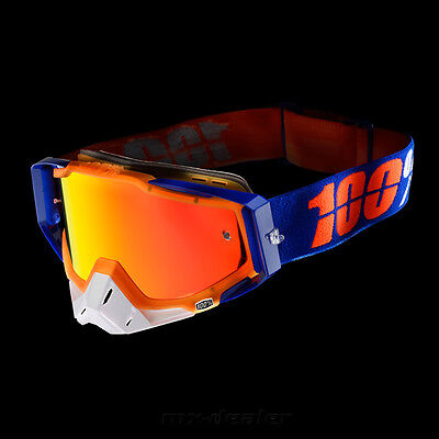 100 % Prozent Racecraft verspiegelt MX Motocross Cross Brille Derestricted MTB
