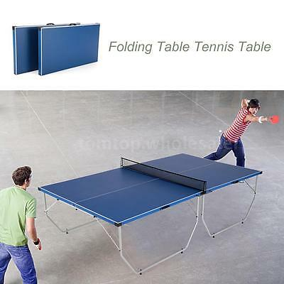 Blue Table Tennis Table Professional Tournament Full Size Indoor Outdoor Q9Y2