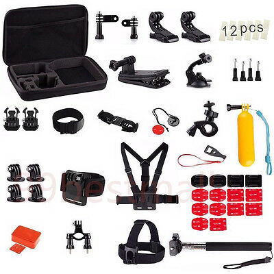 Gopro Hero Session 5 4 3+ 3 2 Puluz 53 In 1 Ultimate Accessory Mounts Kit + Case