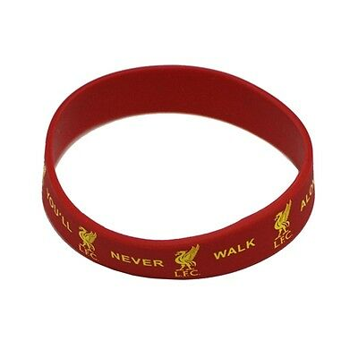 Liverpool Rubber Crest Single Wristband - Fc Red Silicone Football Club Genuine