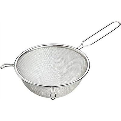 24cm Tinned Round Sieve With Wire Handle - Large Kitchencraft Mesh Sifter Tea