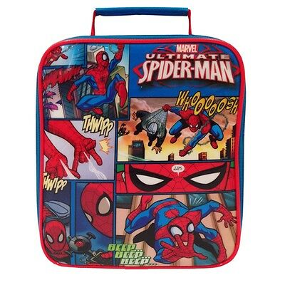 Marvel Ultimate Spiderman Lunch Bag - Official Kids Sandwich Box Snacks