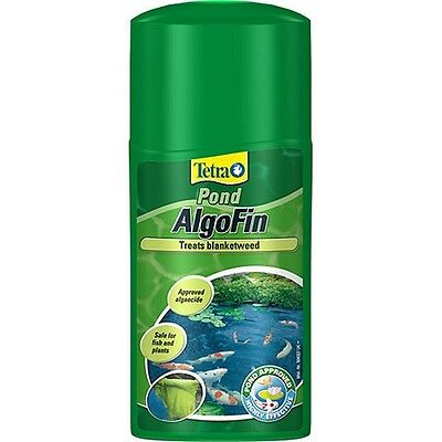 250ml Tetra Pond Algofin Weed Treatment - Algaecide Kills Blanket Safe Water