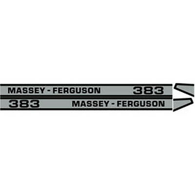 New 383 Massey Ferguson Tractor Hood Decal Kit Mf 383 High Quality Vinyl Decals