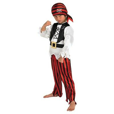 Rubie's Official Boy's Raggy Pirate Fancy Dress, 104 Cm, Children's Costume For