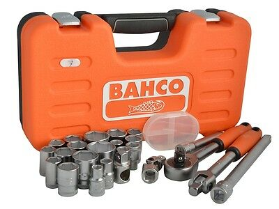 """Bahco 1/2"""" inch Square Drive Metric Socket Set 24 Piece 10-32mm *promo*"""