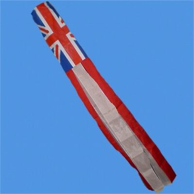 "60"" Union Jack Windsock With Clip - Uk Wind Sock Outdoor Garden Decoration"