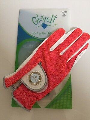 New Ladies Glove It Pink Bling Golf Glove. Size Medium.