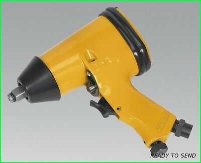 """SEALEY AIR IMPACT WRENCH 1/2"""" TORQUE GUN SQUARE DRIVE TOOL YELLOW S01002The Seal"""