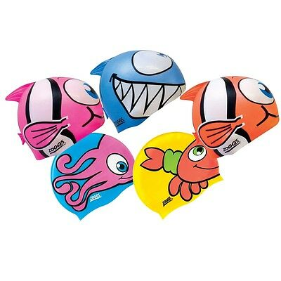 Zoggs Kids Character Swimming Cap Assorted Designs