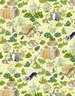 Dolls House 12th scale wallpaper Family Pets - Wallpaper