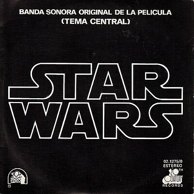 "JOHN WILLIAMS Star Wars OST r@re Spanish 7"" single 45 Banda Sonora Original"