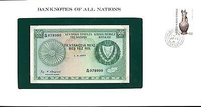 "Cyprus ~ 1979 ~ 500 Mils Note ~ Cu ~ ""banknotes Of All Nations"""