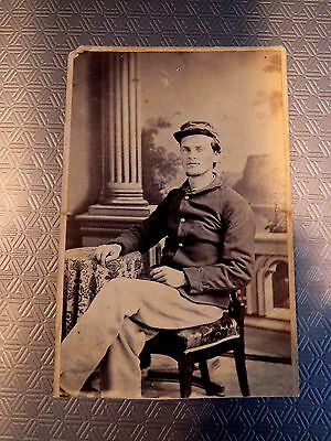 Antique 1860's Photograph CDV of Civil War Union Soldier