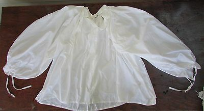 Mens White Cotton PUFFY Pirate Medieval LARP Reenactment Cosplay Sofi's Shirt L
