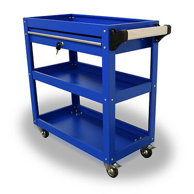 396 Us Pro Tools Blue Tool Cart Mobile Trolley Workstaion Box 1 Drawer