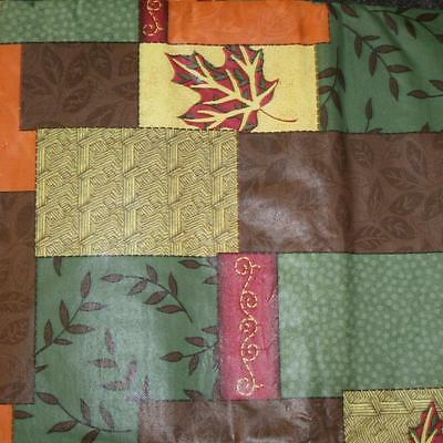 FALL LEAVES VINYL TABLECLOTH~Flannel Back~ALL SIZES~Thanksgiving  Primitive~NEW