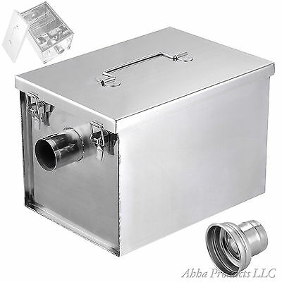 Commercial Kitchen Stainless Steel Fryer Grease Trap Filter Sifter Box 5GPM Kit
