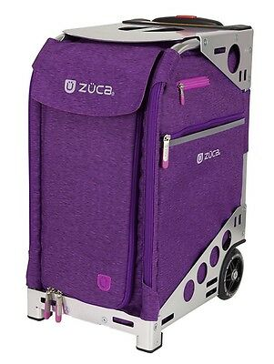 Zuca Professional Wheelie Case for Stenograph in Plum with Silver Frame