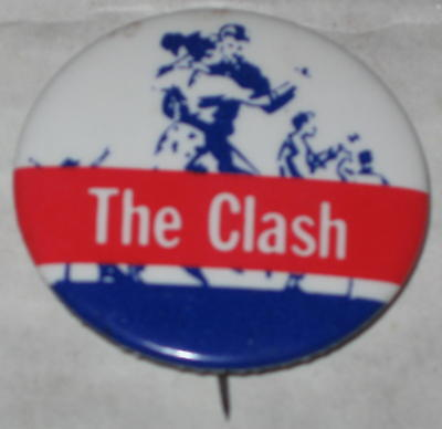 The Clash Tour Pin 1980's Approx 1.5""