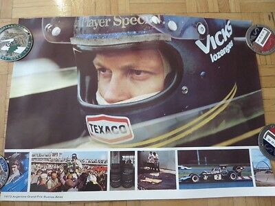 1973 Argentine Grand Prix Buenos Aires Poster Formula 1 One Lotus Goodyear Tire
