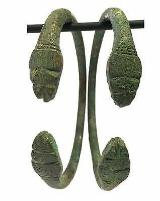 Pair of Ancient Near Eastern Bronze Bracelet .