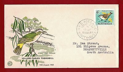1964 Australia First Day Cover Yellow - Tailed Thornbill SA - Strout 19.08.64
