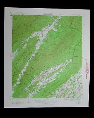Craigsville Virginia vintage 1961 old USGS Topo chart very detailed map