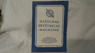 January 1944  NATIONAL HISTORICAL MAGAZINE  DAUGHTERS OF THE AMERICAN REVOLUTION
