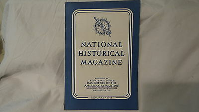 January 1943  NATIONAL HISTORICAL MAGAZINE  DAUGHTERS OF THE AMERICAN REVOLUTION
