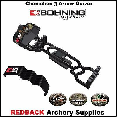 Bohning Chameleon 3 Arrow Bow Quiver for compound and recurve bows NEW Camo