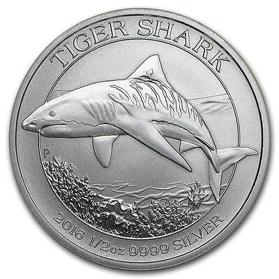 AUSTRALIE 50 Cents Argent 1/2 Once Requin Tigre 2016 1/2 Oz silver coin Shark