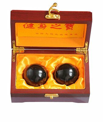 Feng Shui Natural Stone Baoding Balls Chinese Health Exercise Stress Balls W2351