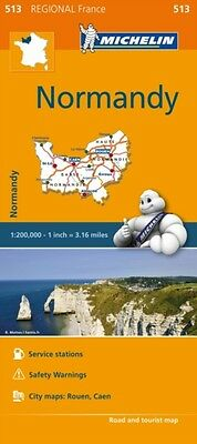 Normandy Michelin Regional Map (Michelin Regional Maps) 513 (Michelin Regional .