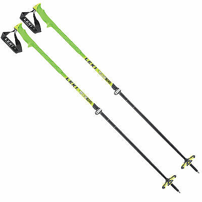 Leki Yellow Bird Vario telescopic ski poles 6362746 110-145cm Alpine NEW